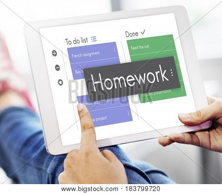 Homework Lesson Knowledge Task Word To Do List