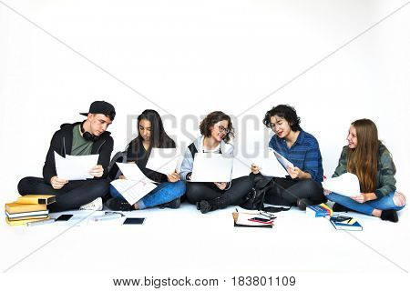 Group of Student doing some Research