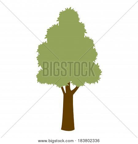 green tree natural enviornment ecology symbol vector illustration
