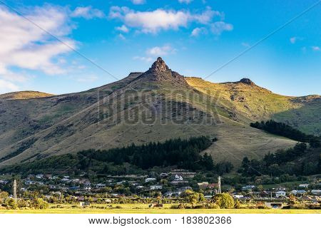 Mount Cavendish in the clear sky day, Christchurch, New Zealand