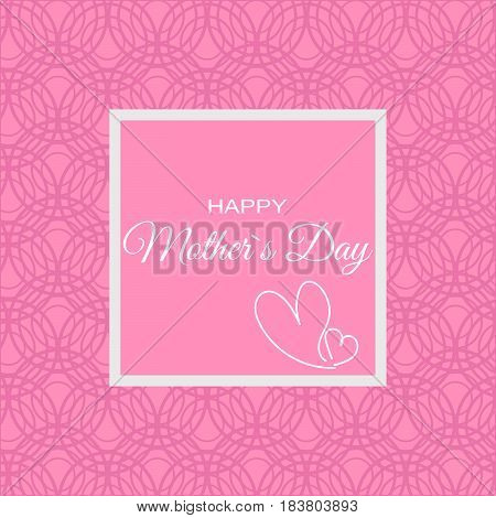 Mother day pink ornate card vector eps 10