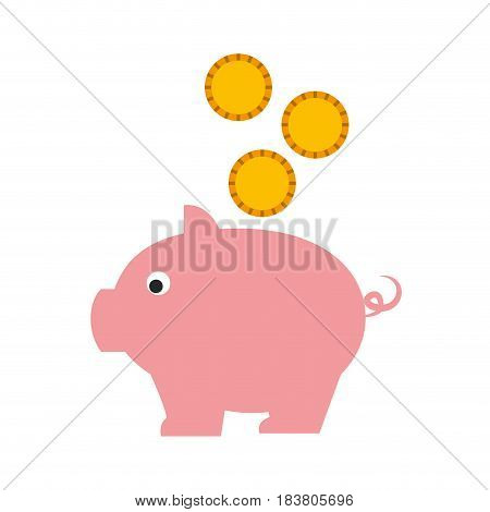 piggy savings isolated icon vector illustration design