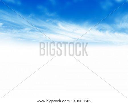 蓝色天空风景