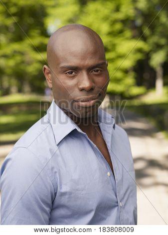 African man smirking