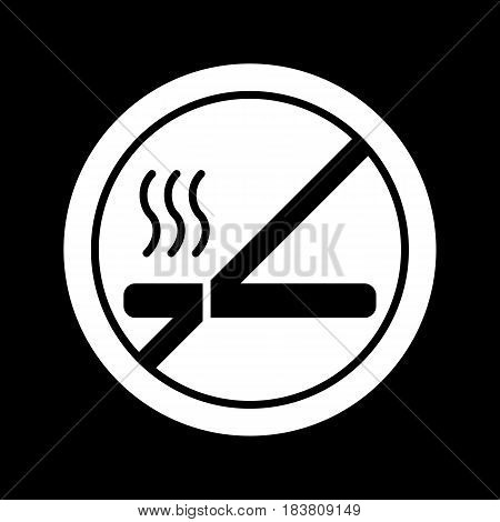 No smoking sign vector. Line style. eps 10