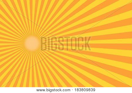 Retro sunburst ray in vintage style. Abstract comic book background. Vector illustration