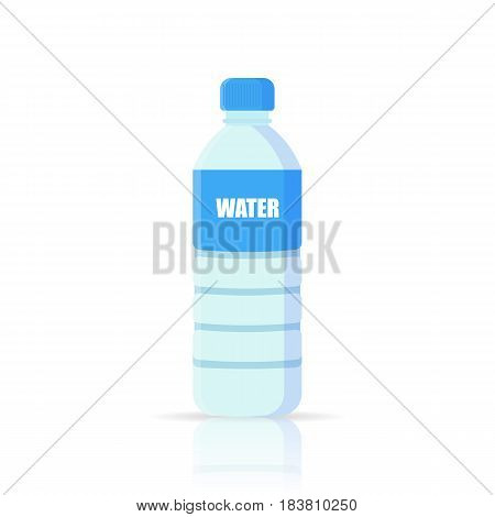 Water Bottle flat icon. isolated on background. Vector illustration. Eps 10.