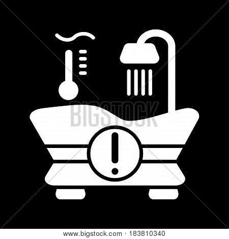 The warm water temperature icon. Bath symbol. Line Vector illustration. eps 10