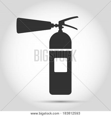 fire extinguisher icon on white background Vector illustration. Eps 10.