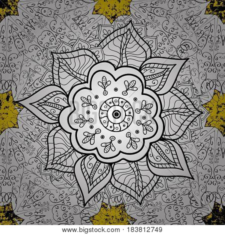 White pattern on background with white elements. Islamic design. Floral tiles. Pattern oriental ornament. Vector white textile print.