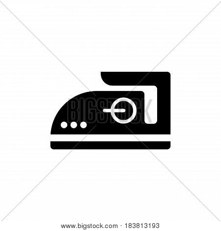 Steam iron vector icon. Isolated on white. Eps 10