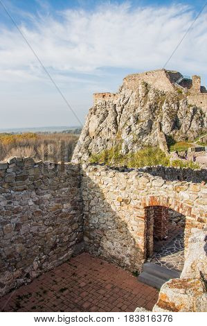 Devin Castle, Just Outside Bratislava, Slovakia. The Castle Lies At The Confluence Of The Morava And
