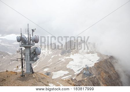 View from top of Zugspitze in Austria