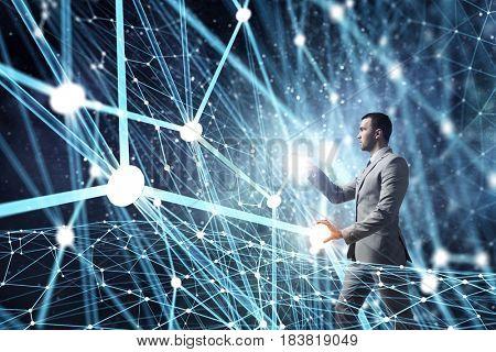 Wireless connection futuristic concept