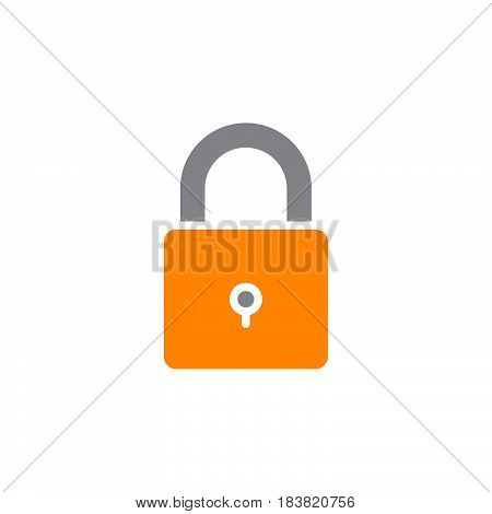 Lock password icon vector filled flat sign solid colorful pictogram isolated on white. Symbol logo illustration. Pixel perfect
