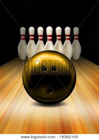 Tenpin bowling game poster