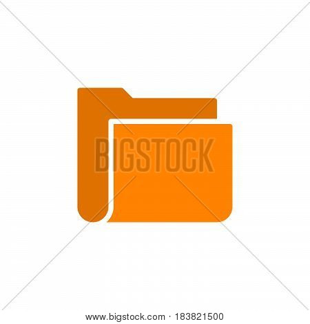 File folder icon vector filled flat sign solid colorful pictogram isolated on white. Symbol logo illustration. Pixel perfect