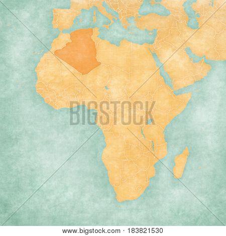 Map Of Africa - Algeria