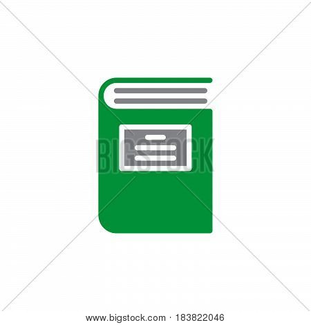 Book icon vector filled flat sign solid colorful pictogram isolated on white. Symbol logo illustration. Pixel perfect