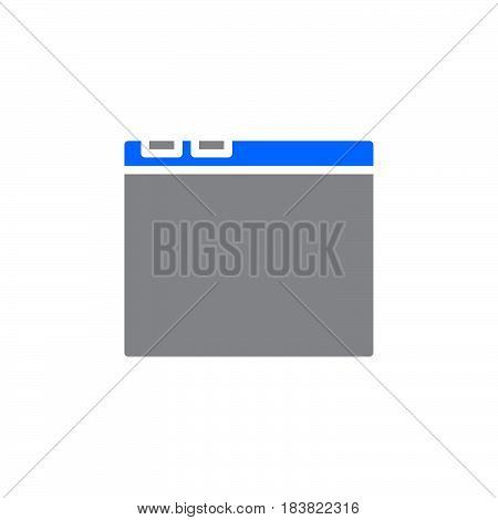 Internet browser window icon vector filled flat sign solid colorful pictogram isolated on white. Symbol logo illustration. Pixel perfect