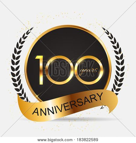 Template 100 Years Anniversary Vector Illustration EPS10