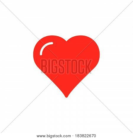 Heart favorite icon vector filled flat sign solid colorful pictogram isolated on white. Love symbol logo illustration. Pixel perfect