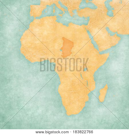 Map Of Africa - Chad