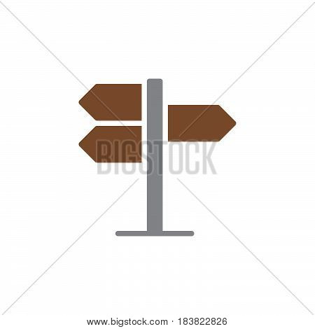 Signpost pointer icon vector filled flat sign solid colorful pictogram isolated on white. Symbol logo illustration. Pixel perfect