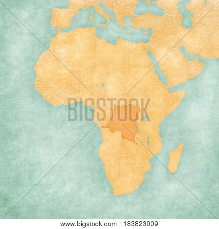 Map Of Africa - Democratic Republic Of The Congo