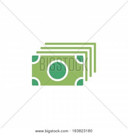 Money flow banknotes icon vector filled flat sign solid colorful pictogram isolated on white. Symbol logo illustration. Pixel perfect