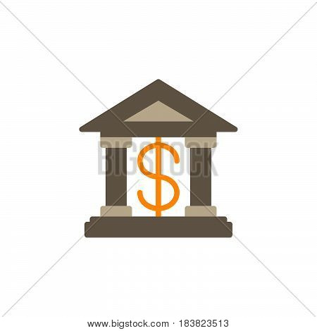 Bank building icon vector filled flat sign solid colorful pictogram isolated on white. Symbol logo illustration. Pixel perfect