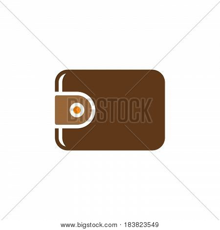 Wallet icon vector filled flat sign solid colorful pictogram isolated on white. Symbol logo illustration. Pixel perfect