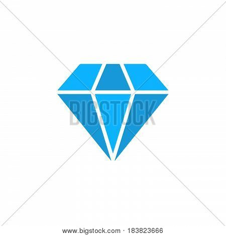 Diamond icon vector filled flat sign solid colorful pictogram isolated on white. Gemstone symbol logo illustration. Pixel perfect