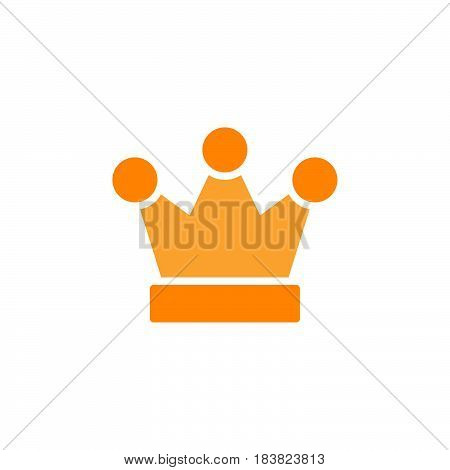 Royal crown icon vector filled flat sign solid colorful pictogram isolated on white. King symbol logo illustration. Pixel perfect