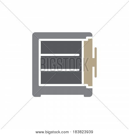 Open safe icon vector filled flat sign solid colorful pictogram isolated on white. Symbol logo illustration. Pixel perfect