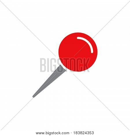 Push pin icon vector filled flat sign solid colorful pictogram isolated on white. Symbol logo illustration. Pixel perfect