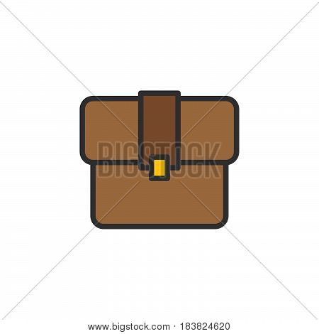 Briefcase line icon filled outline vector sign linear colorful pictogram isolated on white. Portfolio symbol logo illustration. Editable stroke. Pixel perfect