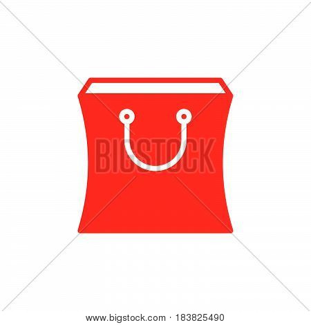 Shopping bag icon vector filled flat sign solid colorful pictogram isolated on white. Symbol logo illustration. Pixel perfect