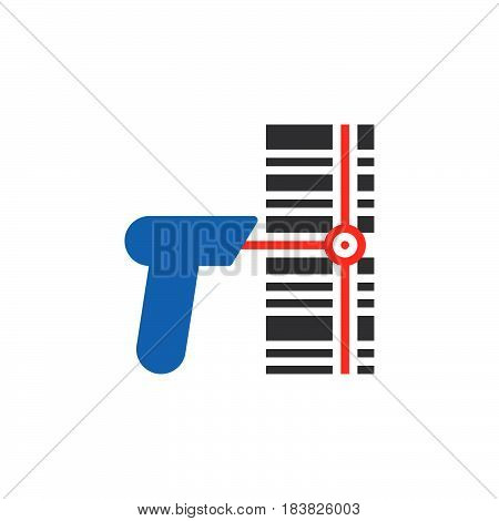Barcode scanner icon vector filled flat sign solid colorful pictogram isolated on white. Symbol logo illustration. Pixel perfect
