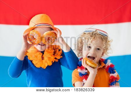 Kids Supporting Netherlands Sport Team