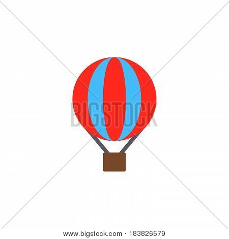 Hot air balloon colorful vector icon filled flat sign solid pictogram isolated on white. Symbol logo illustration. Pixel perfect