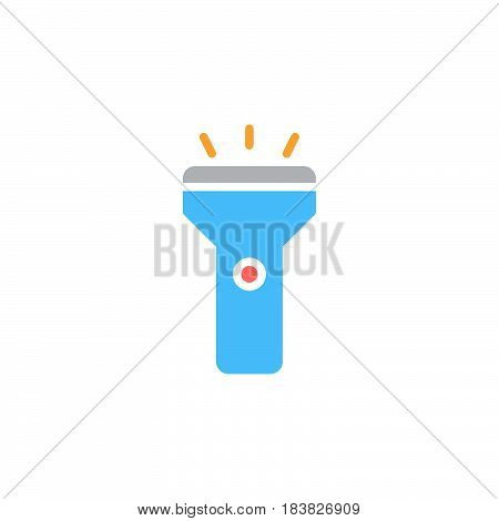 Flashlight colorful vector icon filled flat sign solid pictogram isolated on white. Symbol logo illustration. Pixel perfect