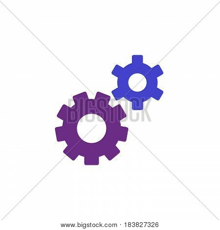 Gear settings preferences colorful vector icon filled flat sign solid pictogram isolated on white. Symbol logo illustration. Pixel perfect