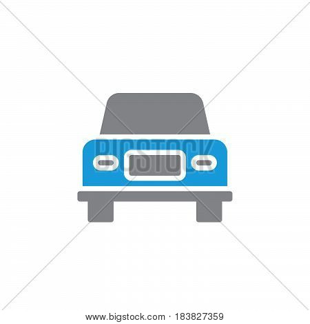 Car vehicle vector icon filled flat sign solid colorful pictogram isolated on white. Symbol logo illustration. Pixel perfect