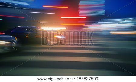 Beautiful blurred traffic background