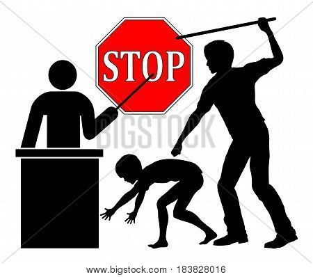 Stop spanking at school. Put a ban corporal punishment through teachers in public education