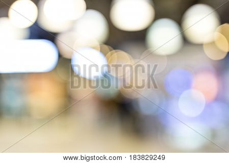 Blur of restaurant