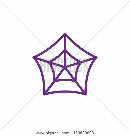 Spider web line icon outline vector sign linear colorful pictogram isolated on white. Cobweb symbol logo illustration. Editable stroke. Pixel perfect