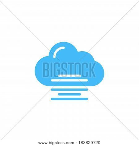 Fog mist icon vector filled flat sign solid colorful pictogram isolated on white. Symbol logo illustration. Pixel perfect