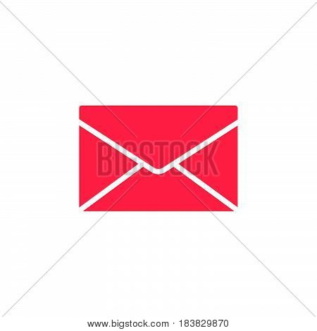 Envelope mail message icon vector filled flat sign solid colorful pictogram isolated on white. Symbol logo illustration. Pixel perfect